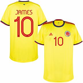 21-22 Colombia Home Shirt + James 10 (Official Printing)