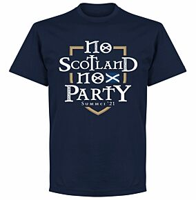 No Scotland No Party T-shirt - Navy