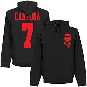 Cantona Silhouette Hoodie - Black/Red