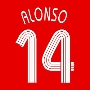 Alonso 14 - 06-07 Liverpool Home Official Champions League Name & Number