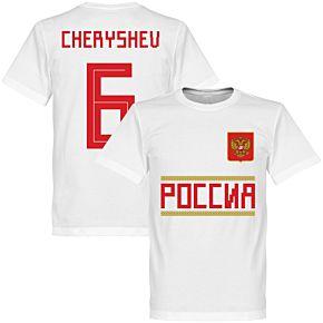 Russia Cheryshev 6 Team Tee - White