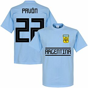 Argentina Pavon 22 Team Tee - Sky