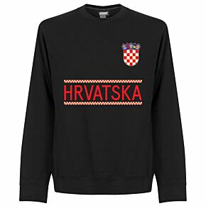 Croatia Team Sweatshirt - Black
