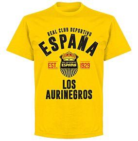 Real Club Deportivo Espana Established T-shirt - Yellow