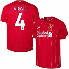 19-20 Liverpool Home P/L Champions Home Shirt + Virgil 4