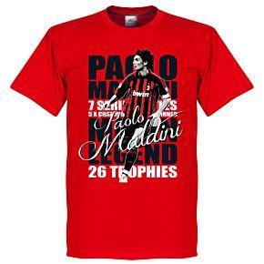 Paolo Maldini Legend Tee - Red