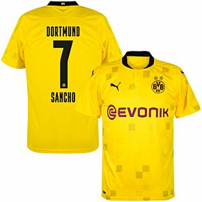 20-21 Borussia Dortmund Cup Shirt + Sancho 7 (Official Printing)