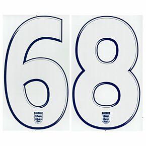 08-10 England Away Back Numbers
