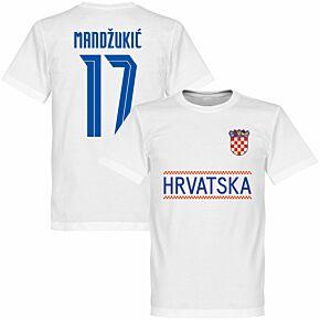 Croatia Mandzukic 17 Team KIDS T-shirt - White