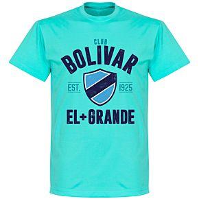 Club Bolivar Established T-Shirt - Atoll Blue