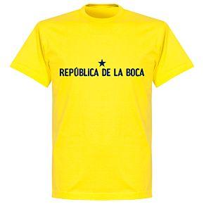 Republica De Le Boca Slogan T-Shirt - Yellow