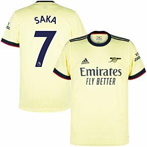21-22 Arsenal Away Shirt + Saka 7 (Premier League)