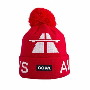COPA Away Days Beanie Hat - Red/White