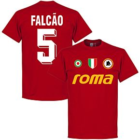 Roma Vintage Falcao 5 Team Tee - Tango Red