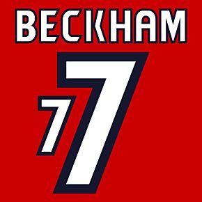 Beckham 7 - England Away 1998-1999 2-Layer Replica Flock Printing