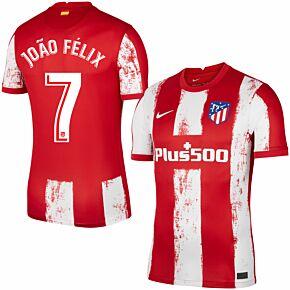 21-22 Atletico Madrid Home Shirt + João Félix 7 (Official Printing)