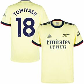 21-22 Arsenal Away Shirt + Tomiyasu 18 (Premier League)