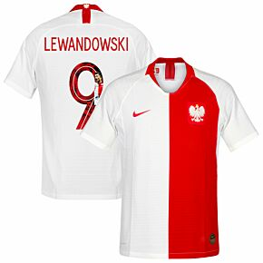 19-20 Poland Vapor Match Shirt +Lewandowski 9 (Gallery Style)