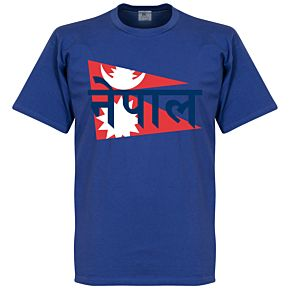 Nepal Flag Tee - Blue