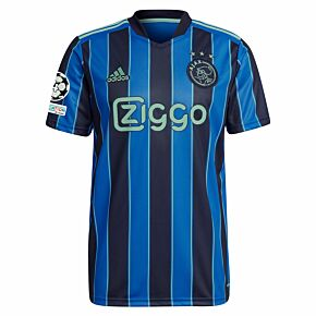 21-22 Ajax Away Shirt + UCL Starball 4 Times Winner + UEFA Foundation Patch