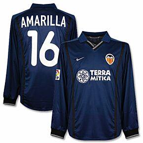00-01 Valencia Away L/S Jersey + F. Aurelio No. 16 - Players