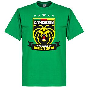 Cameroon Africa Cup of Nations 2017 Winners Tee - Green
