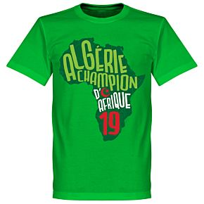 Algeria Champions of Africa Map Tee - Green