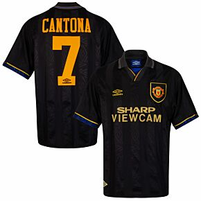 Umbro Manchester United 1993-1995 Away Shirt Cantona No.7 - USED Condition (Good) - Size L