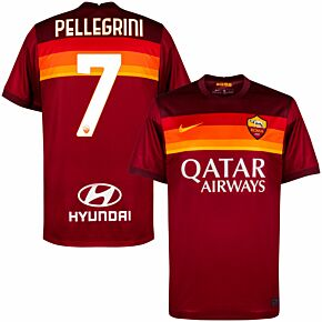 20-21 AS Roma Home Shirt + Pellegrini 7