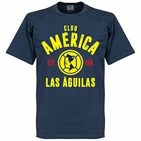 Club America Established Tee - Denim Blue