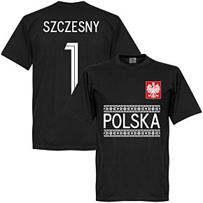 Poland Szczesny 1 Team Tee - Black