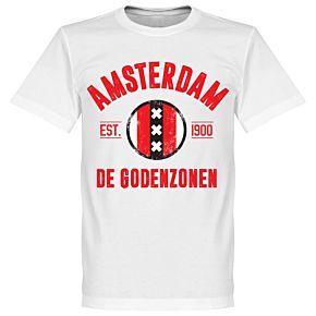 Amsterdam Established Tee - White