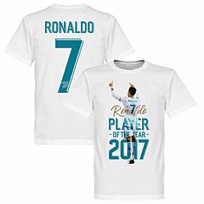 Ronaldo 2017 Player of the Year Tee - White
