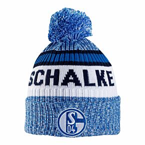 Schalke 04 Pom Beanie Hat - Blue/White