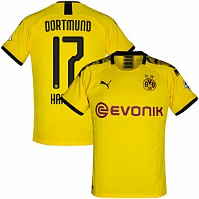 19-20 Borussia Dortmund HomeShirt + Halland 17(Official Printing)