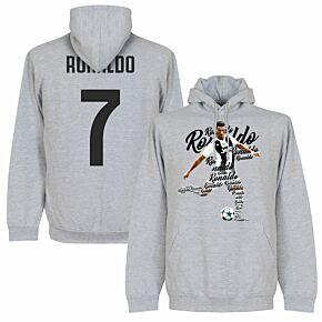 Ronaldo 7 Script Hoodie - Grey