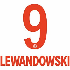 Lewandowski 9 (Official Printing) - 20-21 Bayern Munich Away