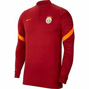 21-22 Galatasaray 1/4 Zip L/S Strike Drill Top - Red
