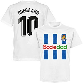Sociedad Odegaard 10 Team T-shirt - White