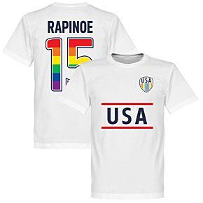 USA Rapinoe 15 Team Pride KIDS Tee- White
