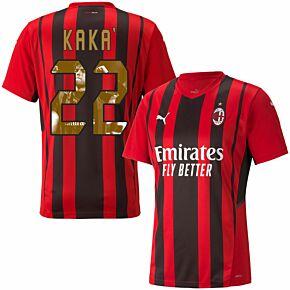 21-22 AC Milan Home Shirt + Kaka 22 (Official Printing)