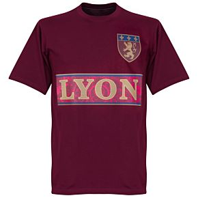 Lyon Team T-shirt - Maroon