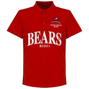Russia Rugby Polo Shirt - Red