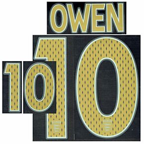 Owen 10 06-08 England Away Junior Name and Number Transfer