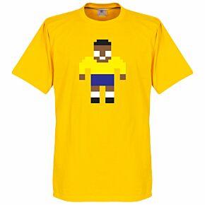 Pelé Legend Pixel Player Tee - Yellow