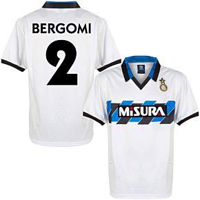 1990 Inter Milan Away Retro Shirt + Bergomi 2 (Retro Flock Printing)