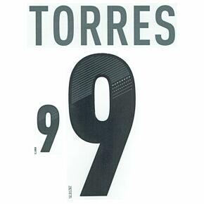 Torres 9 - Spain Away KIDS Name and Number Set 2012-2013