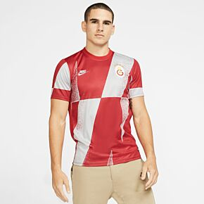 19-20 Galatasaray Pre-Match Top - Grey/Red
