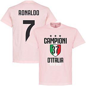 Campioni D'Italia 37 Ronaldo 7 Tee - Pink