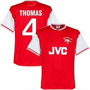 1985 Arsenal Home Centenary Retro Shirt + Thomas 4